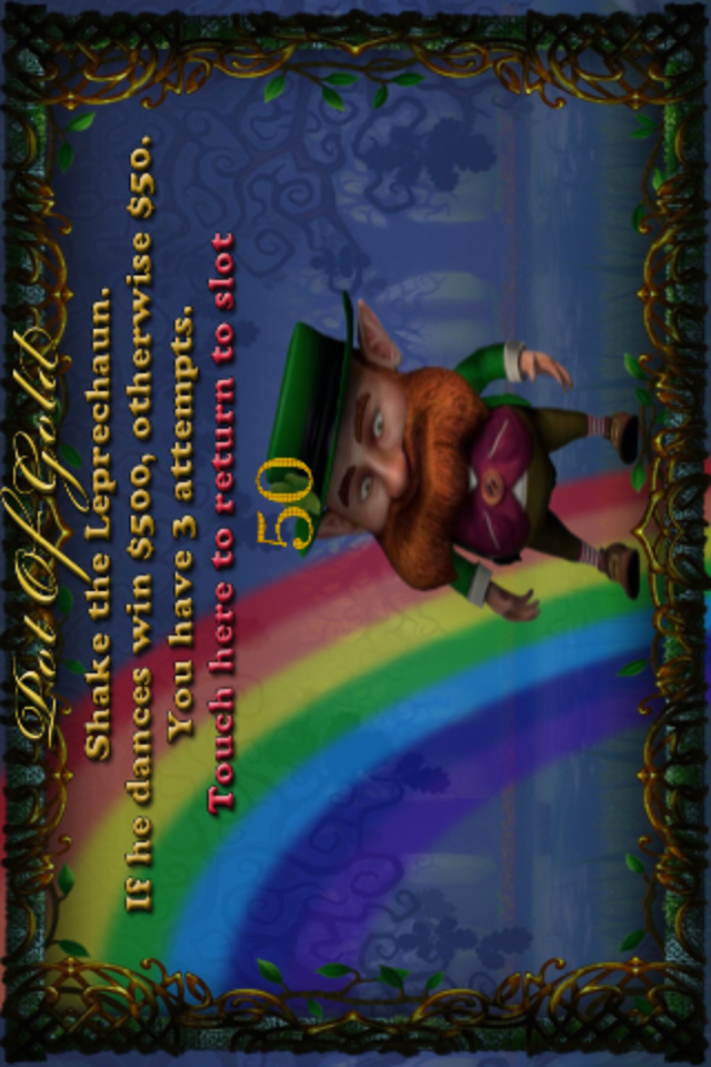 Screenshot Leprechaun's Pot of Gold Slots